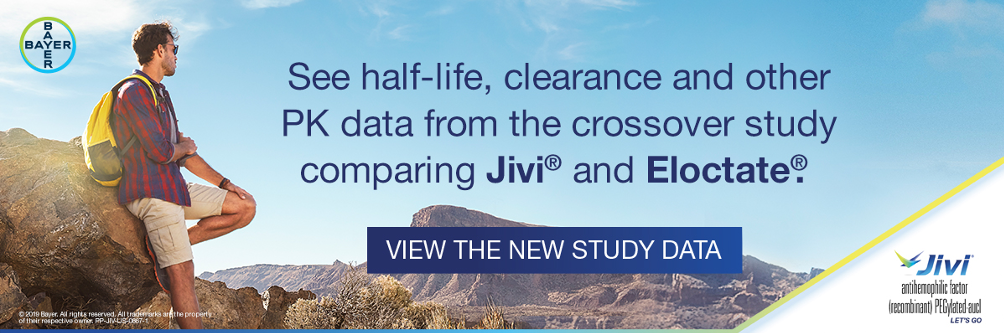 See half-life, clearance and other PK data from the crossover study comparing Jivi and Eloctate. Sponsored by Bayer.